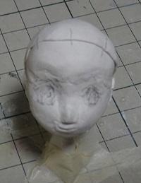 フィギュアの頭部作成
