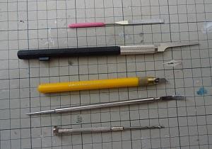 フィギュアを作る時に使う道具