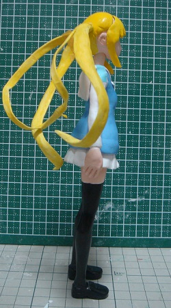 澤村・スペンサー・英梨々のフィギュアを作ってみる18 ツインテール塗装