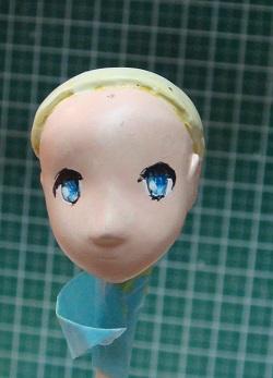 澤村・スペンサー・英梨々のフィギュア 顔塗装