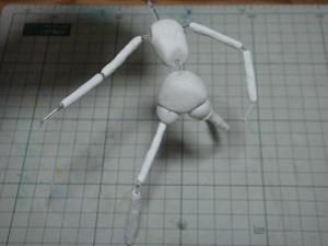 緋山千夏のフィギュアを作ってみる01 骨組み