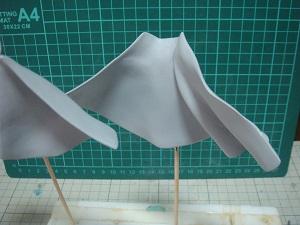 緋山千夏のフィギュアの塗装 スカート部分