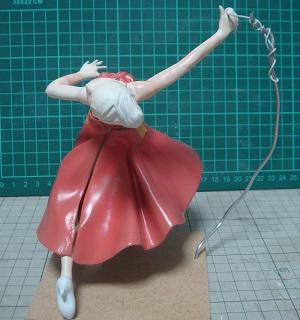 緋山千夏のフィギュアの塗装 ドレス・スカート