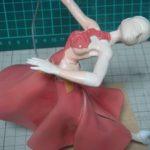 緋山千夏のフィギュア 塗装ドレス・スカート