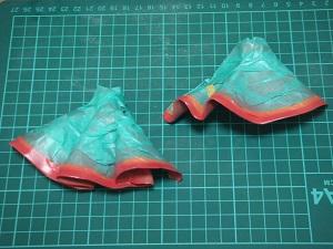 フィギュアの塗装 スカート マスキング