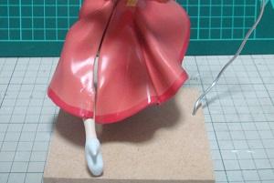 フィギュアの塗装 スカート
